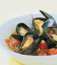 Grand Marnier Mussel Stew