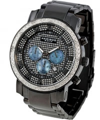 Akribos XXIV Men's Diamond-accented Quartz Chronograph Bracelet Watch