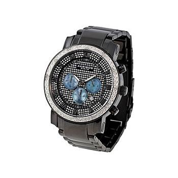 Akribos XXIV Men's Diamond-accented Quartz Chronograph Bracelet Watch