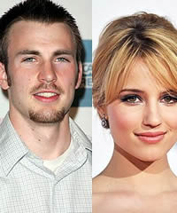 Chris Evans and Dianna Agron Romancing
