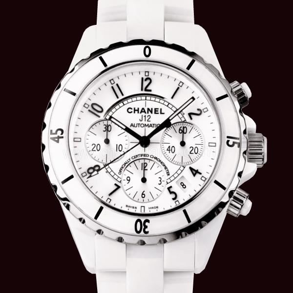 chanel j12 chronograph white ceramic mens watch h1007 chanel j12 watch h1007