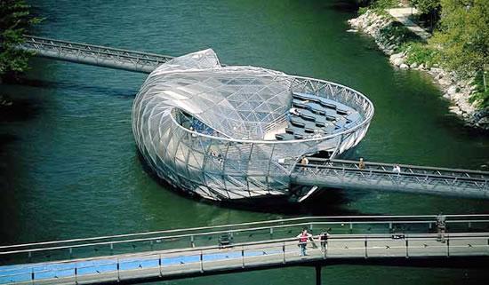 Aiola Island Bridge Austria