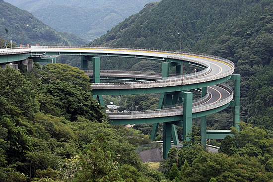 Kawazu Nanadaru Loop Bridge Japan