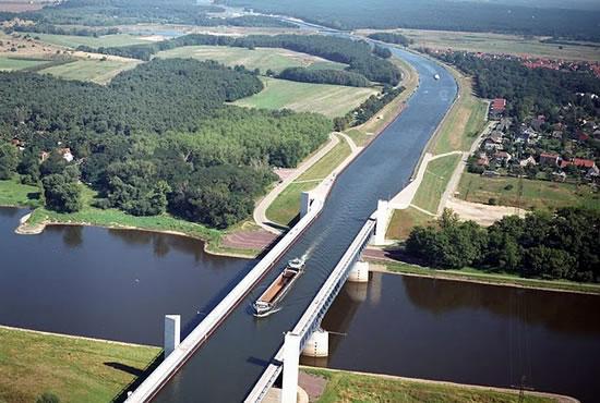 Magdeburg Water Bridge Germany