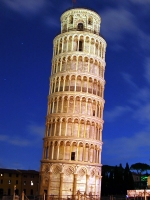 Leaning Tower of Pisa Night View