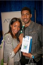 Actress Faune Chambers and rapper Fonzworth Bentley