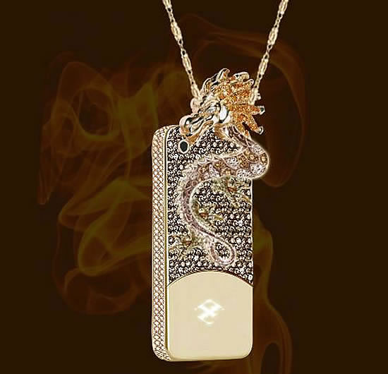 Dragon and Sphone cases Double up as Necklace