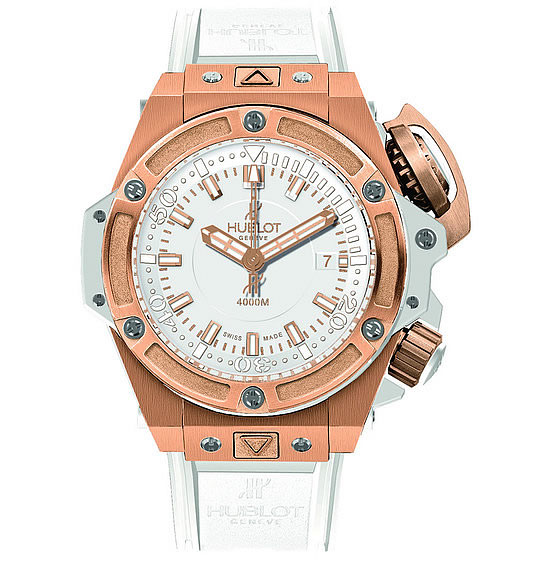 Hublot Oceanographic 4000 King Gold White Watch