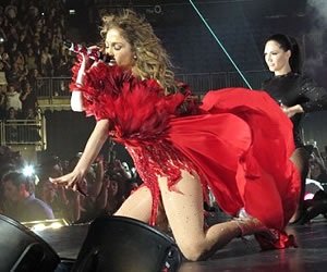 Jennifer Lopez Reveals Bodysuit at triumphant London O2 Arena show