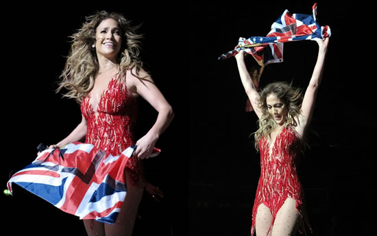 Jennifer Lopez flag for Great Britain