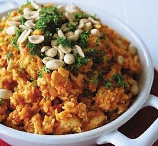 Peanut Chicken and Rice Recipe