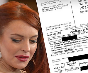 Lindsay Lohan Proof I'm Paying Taxes