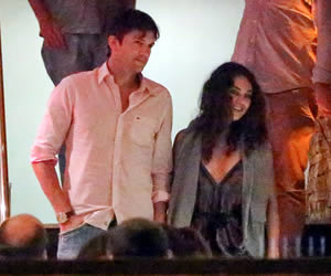 Ashton Kutcher and Mila Kunis Take Their Romance to Brazil