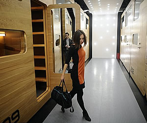 First capsule hotel with fifty windowless pods opens in Moscow