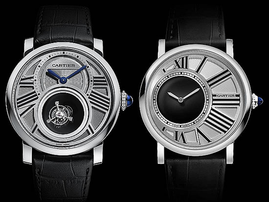 Cartier Rotonde de Cartier Mysterious Double Tourbillon and Rotonde de Cartier Mysterious Hours