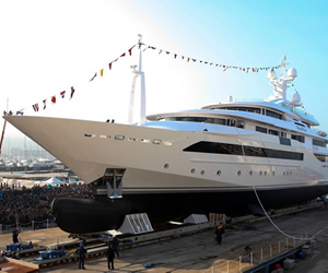 Chopi Chopi, the largest Megayacht ever built by CRN unveiled