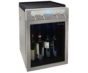 Vinotemp Stainless Steel 4-Bottle Wine Dispenser