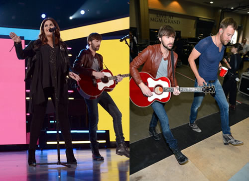 Dave Haywood Rocks bed stu Footwear at ACM Awards