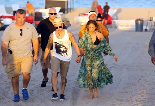 J-Lo rushed to Safety after Gunshots are fired at her Video shoot in Florida