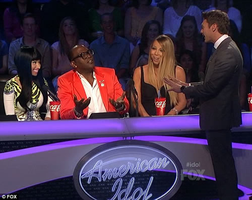 Nicki Minaj taunts Mariah Carey American Idol