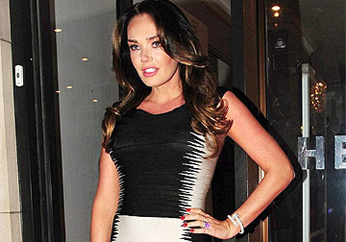 Tamara Ecclestone shows sign of pregnancy bump in Bandage Dress