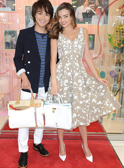 Michael Kors  and Miranda Kerr