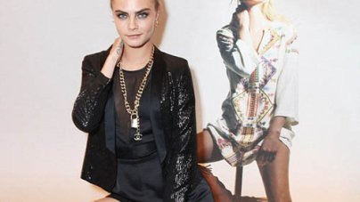 Cara Delevingne risks upstaging Kate Moss at Private dinner