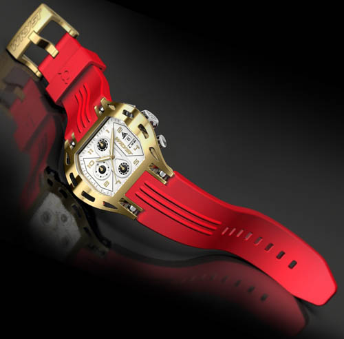 red gold watch