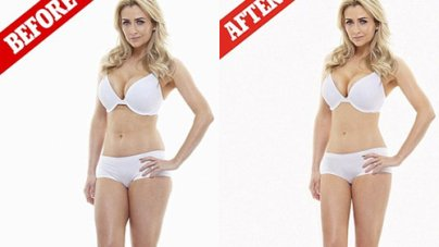 Gemma Merna Strips Underwear Difference Airbrushing Makes Photoshoot