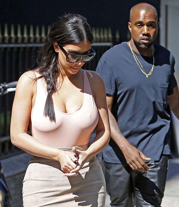 Kim Kardashian and kany west