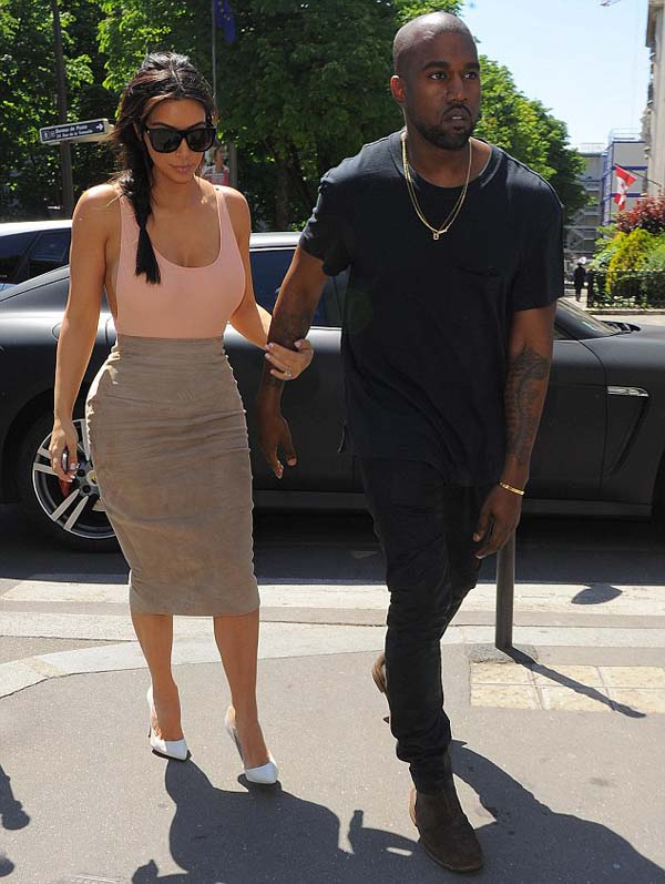 Kim Kardashian and kany west photos