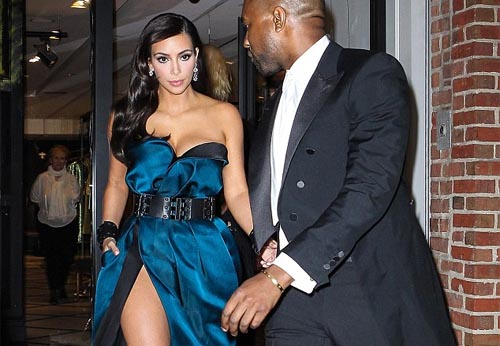 Kim Kardashian Stuns In High-Slit Gown At 2014 Met Ball