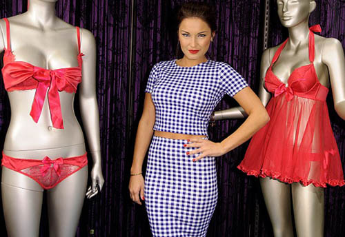Sam Faiers looked Modest at the Giles Deacon for Ann Summers Collection launch