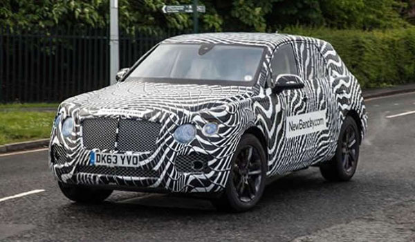 First Spy Shots of the 2016 Bentley SUV Emerge