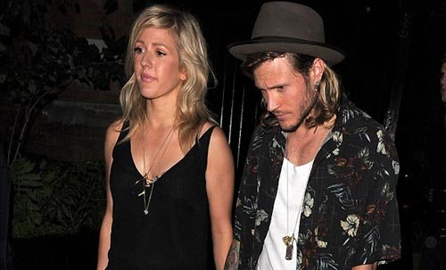 Ellie Goulding Dougie Poynter hand hand Blossoming Romance Chiltern Firehouse