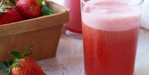 Strawberry and Vanilla Juice
