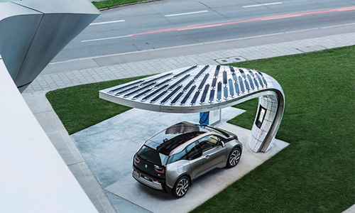 Stylish Solar Charging Station for BMW i3 & i8