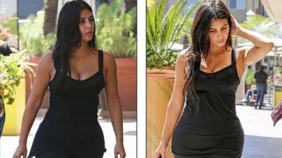 Kim Kardashian without make-up at gym