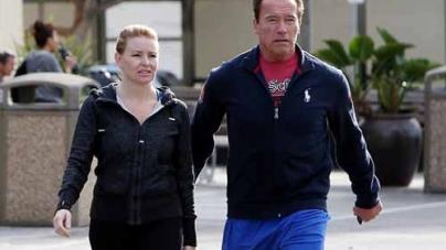 Arnold Schwarzenegger with girlfriend Heather Milligan in Los Angeles