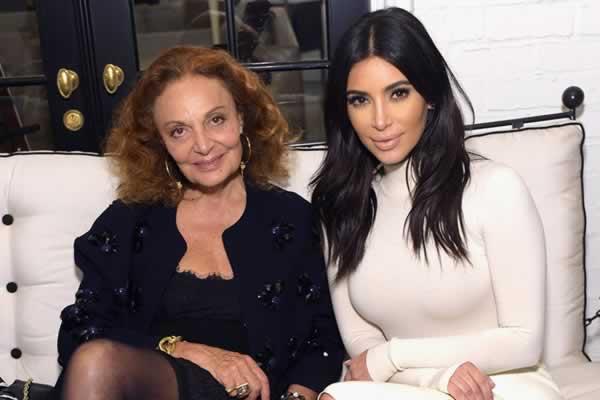 Diane von Furstenberg and Kim Kardashian