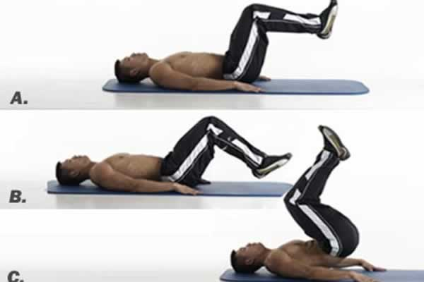 Reverse crunch to burn fat fast