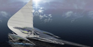 Futuristic TRIMARAN Yacht with Solar Panels