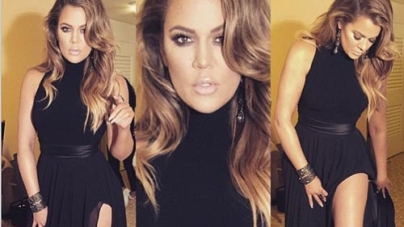 Khloe Kardashian looking Hot at Golden Globes after Party