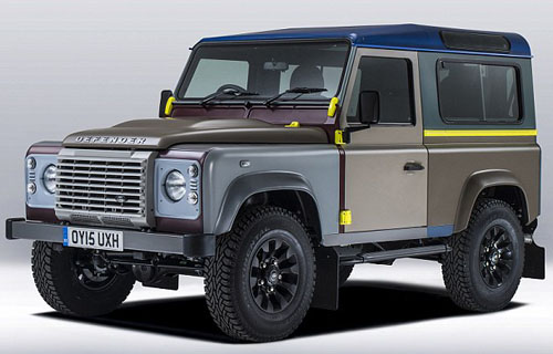 Land Rover Defender designed by British fashion icon Paul Smith