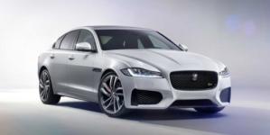 New Jaguar XF sedan Drove across a high wire in London