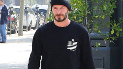 David Beckham Looking Awesome while he visit LA juice bar