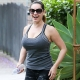 Kelly Brook puts on a VERY Curvaceous Vest Top