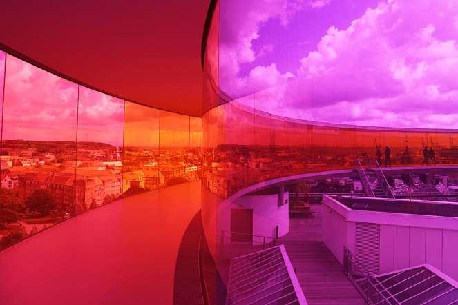 Rainbow Panorama in Aarhus Denmark