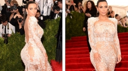 Kim Kardashian Wears her Most Daring Dress in NYC Met Gala 2015