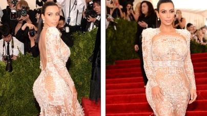 Kim Kardashian Wears her Most Daring Dress in NYC Met Gala 2015